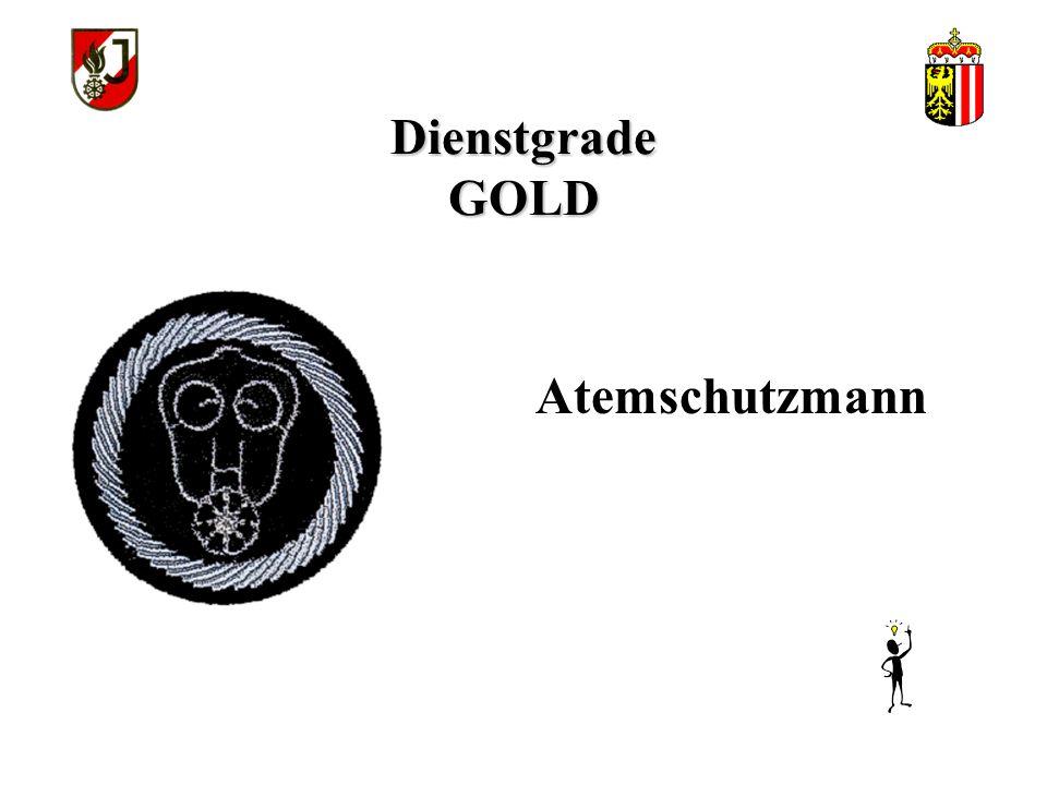 Dienstgrade GOLD Atemschutzmann
