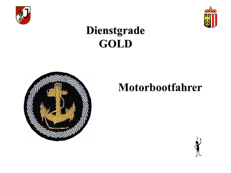 Dienstgrade GOLD Motorbootfahrer