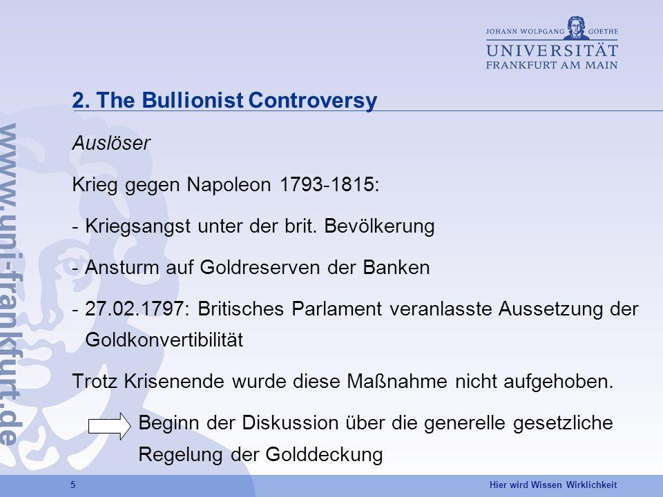 2. The Bullionist Controversy