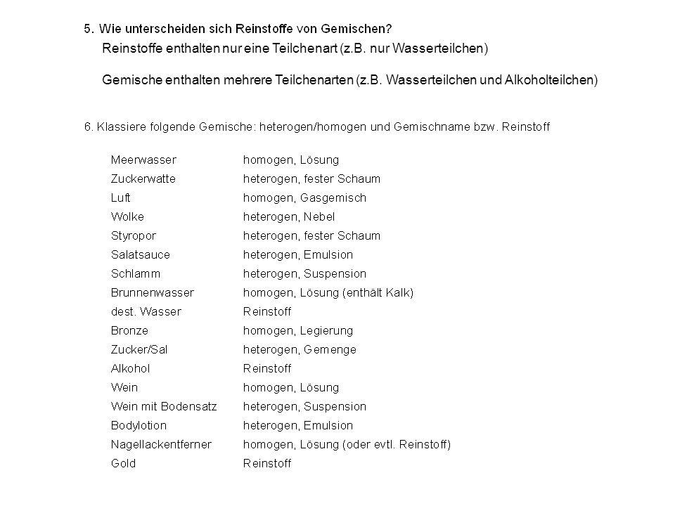 Ausgezeichnet Arten Von Mischungen Arbeitsblatt Galerie - Super ...