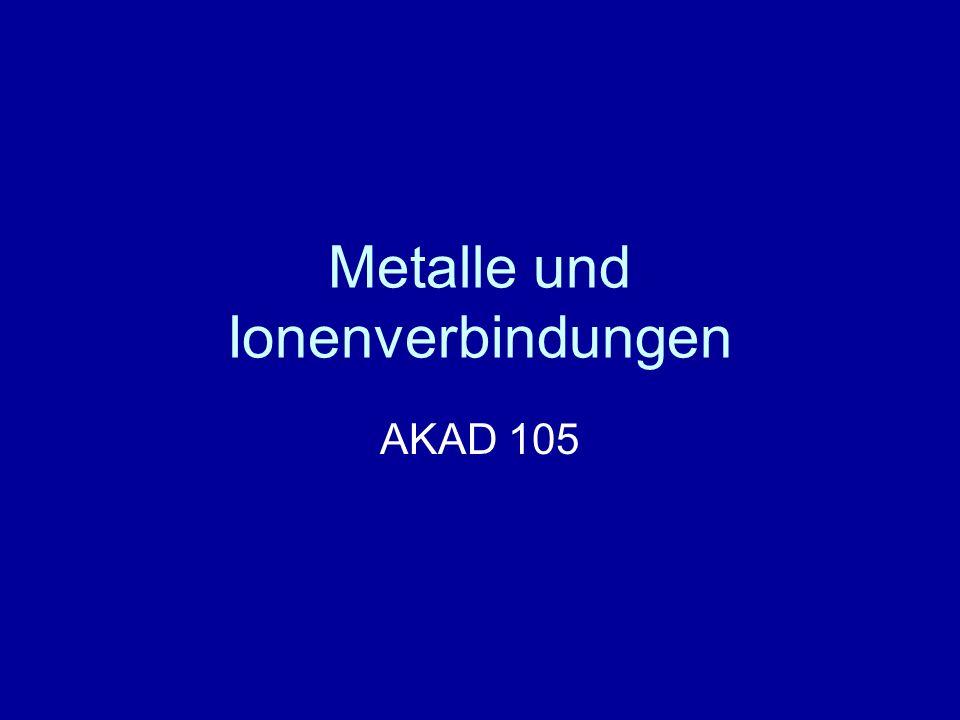 Metalle und Ionenverbindungen