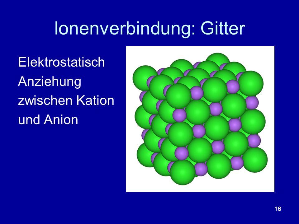 Ionenverbindung: Gitter