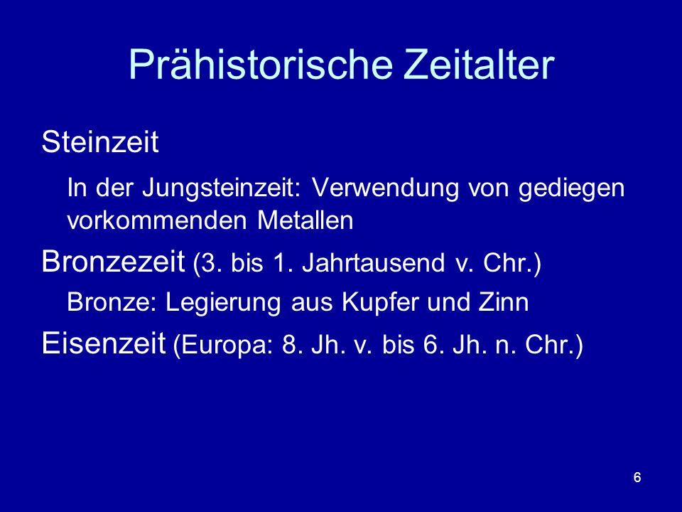 Prähistorische Zeitalter