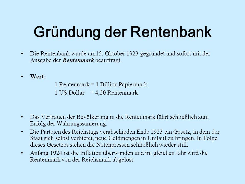 Gründung der Rentenbank