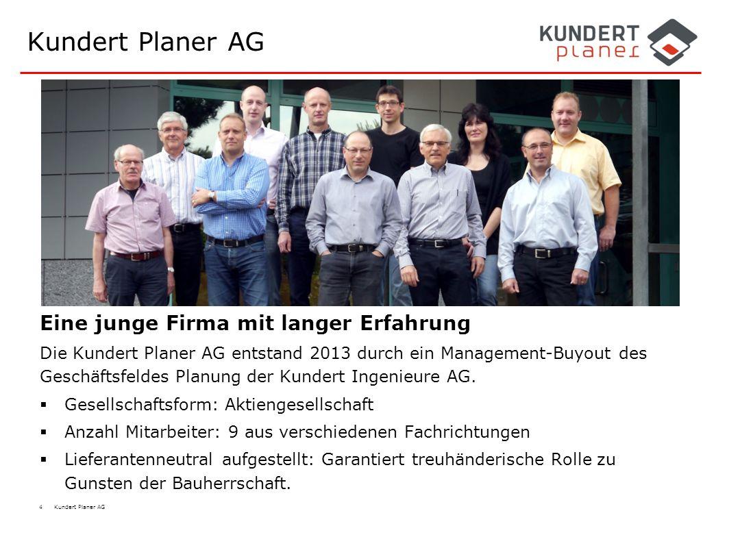 Kundert Planer AG Eine junge Firma mit langer Erfahrung