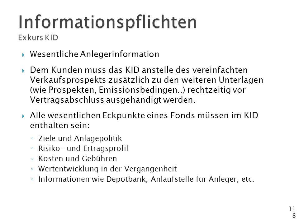 Informationspflichten Exkurs KID