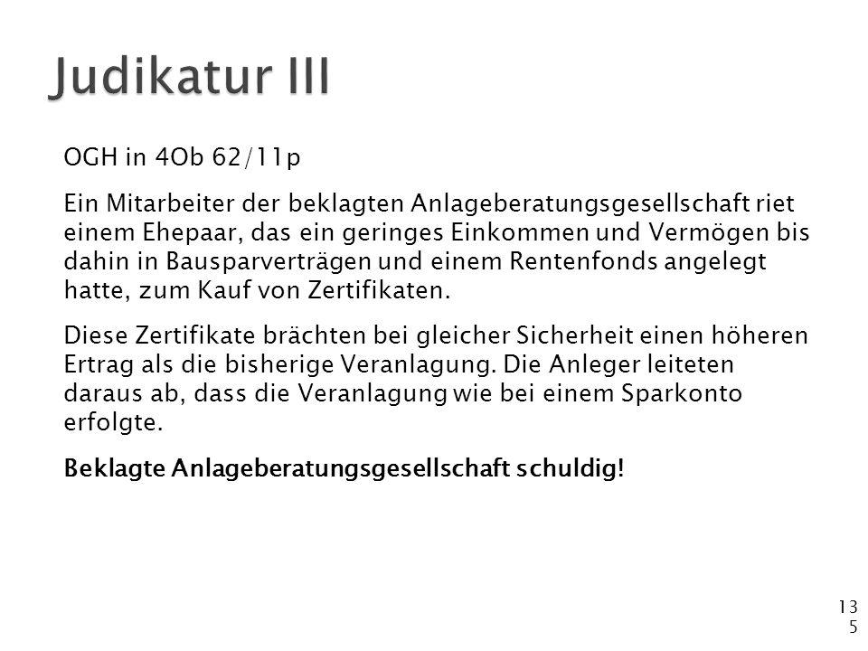 Judikatur III