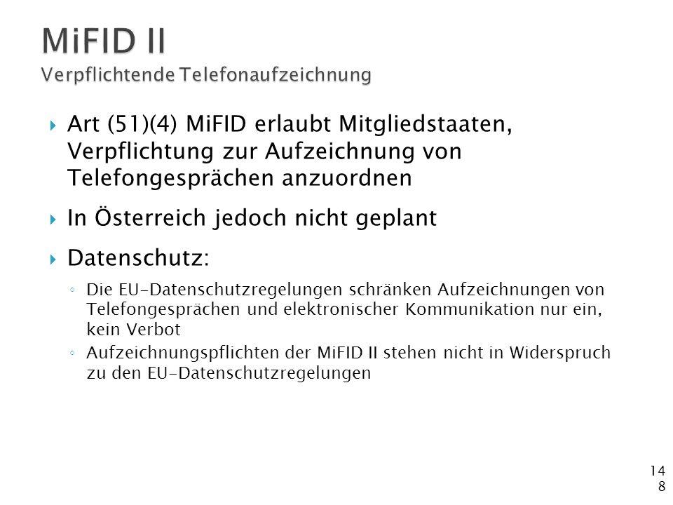 MiFID II Verpflichtende Telefonaufzeichnung