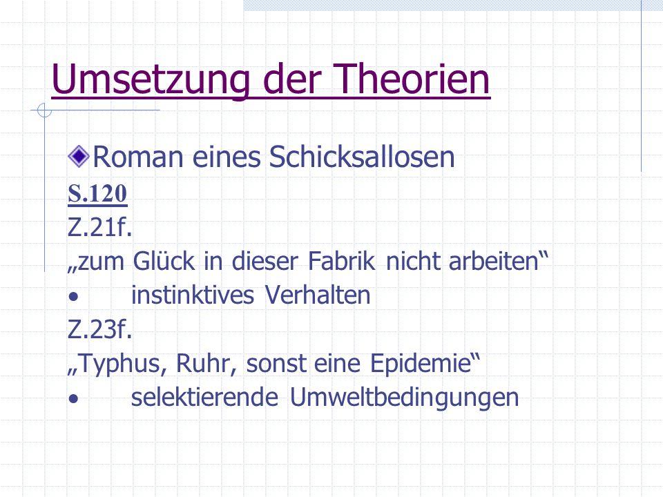 Umsetzung der Theorien