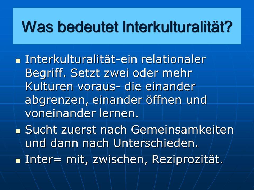 Was bedeutet Interkulturalität