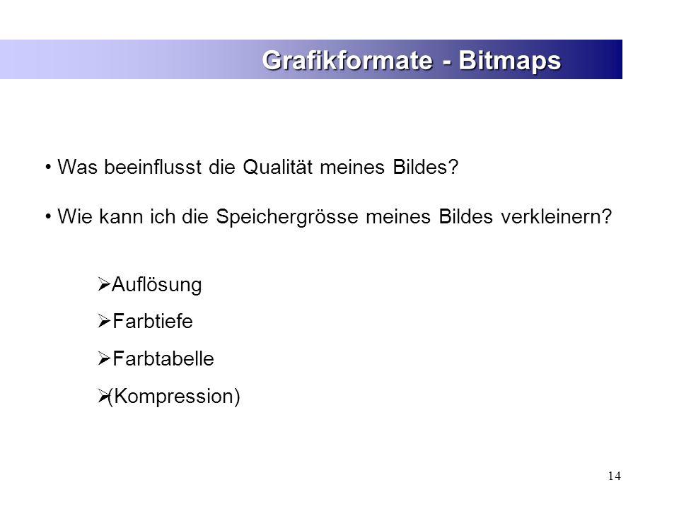 Grafikformate - Bitmaps
