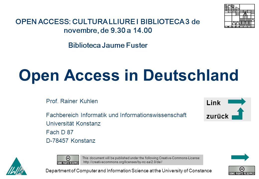 Open Access in Deutschland