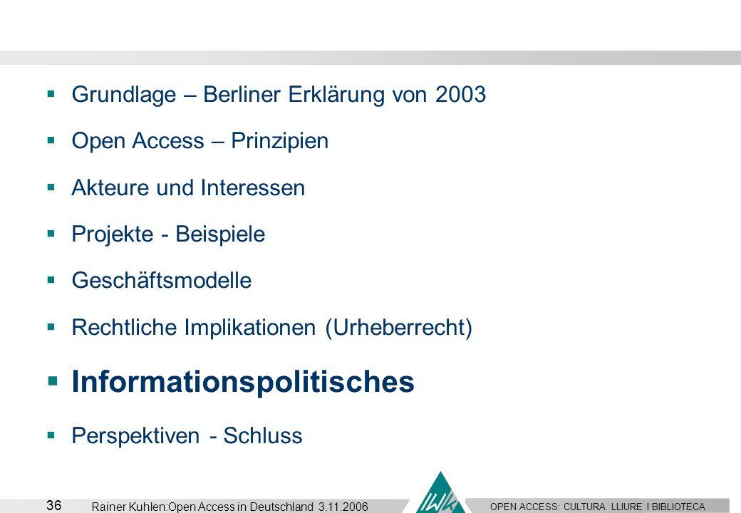 Informationspolitisches