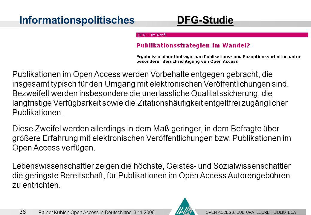 Informationspolitisches DFG-Studie