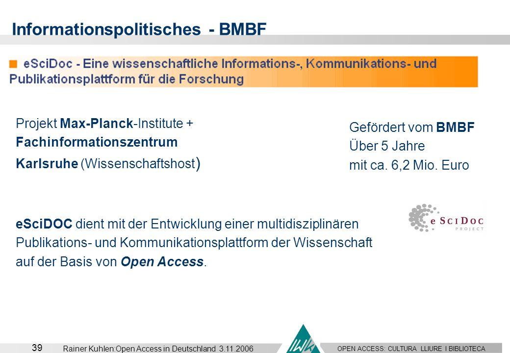 Informationspolitisches - BMBF