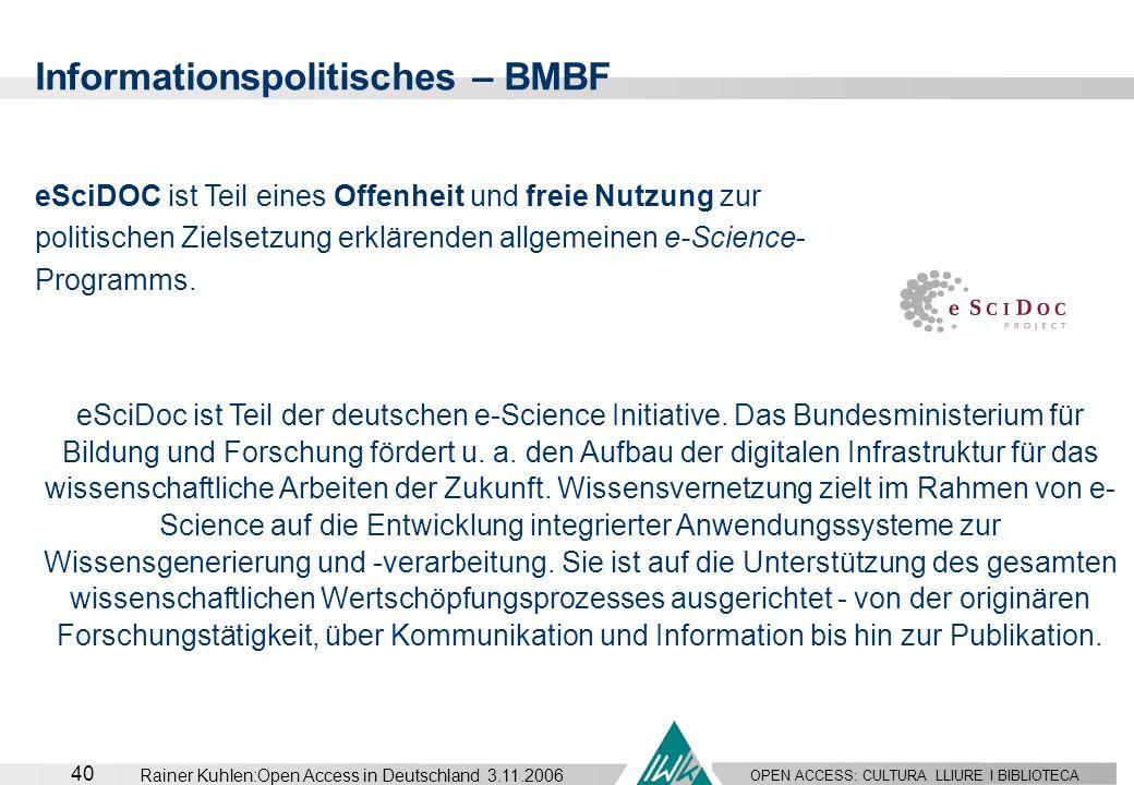 Informationspolitisches – BMBF