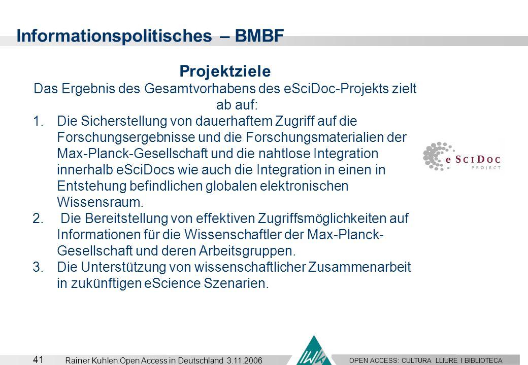 Das Ergebnis des Gesamtvorhabens des eSciDoc-Projekts zielt ab auf: