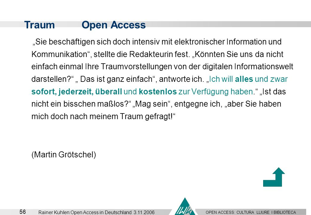 Traum Open Access