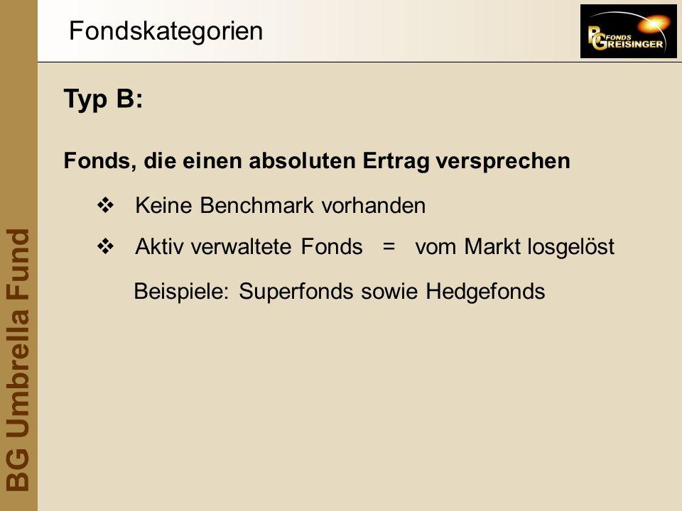 Fondskategorien Typ B: Fonds, die einen absoluten Ertrag versprechen