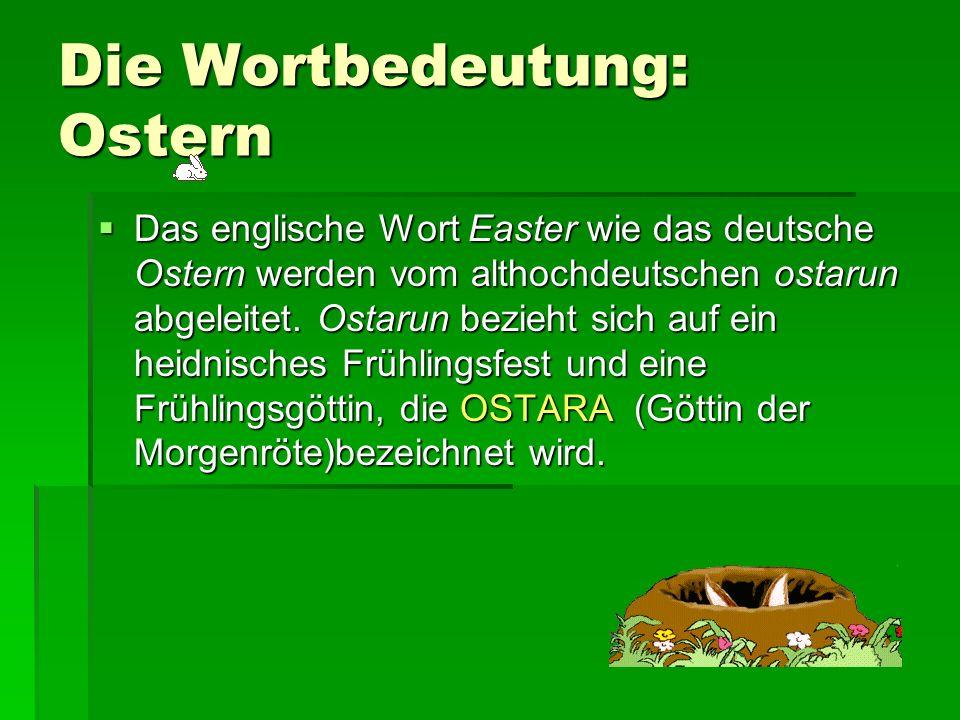 Die Wortbedeutung: Ostern