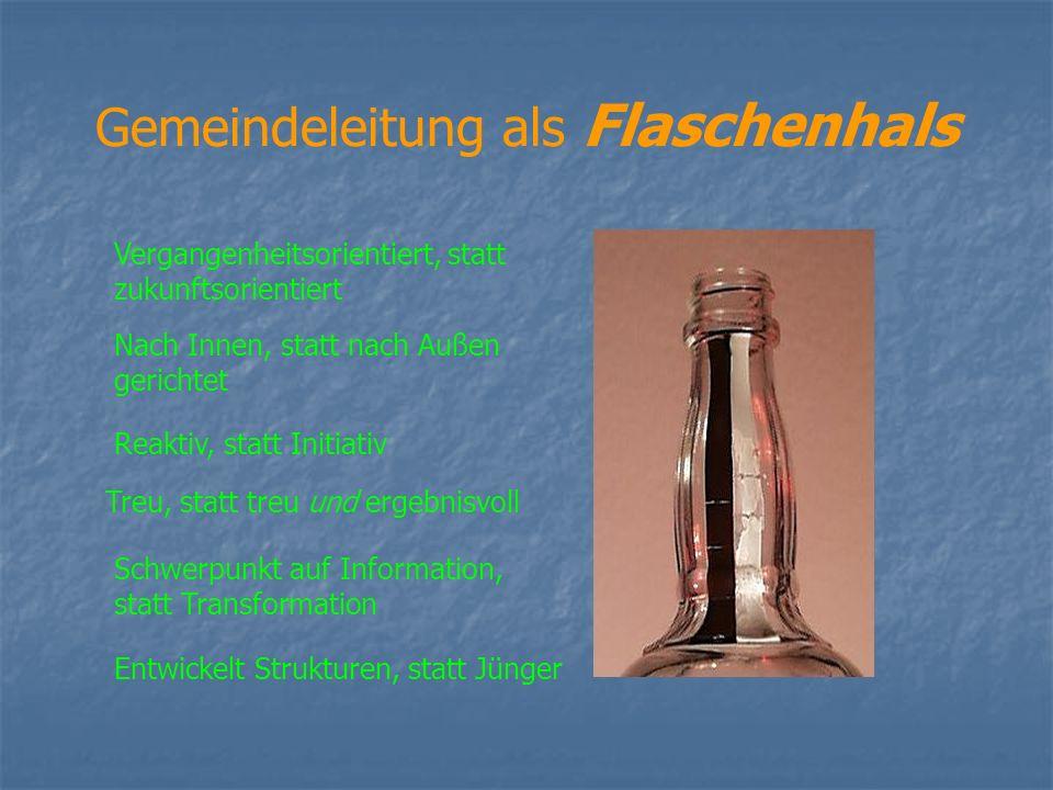 Gemeindeleitung als Flaschenhals