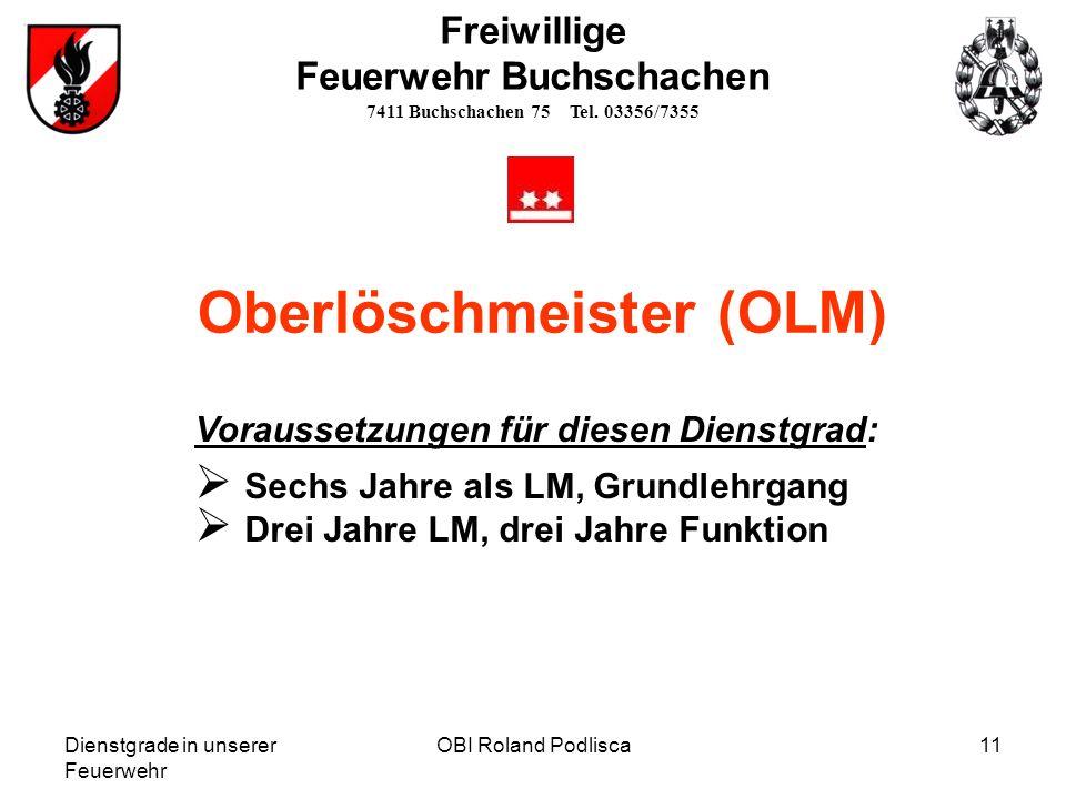 Oberlöschmeister (OLM)