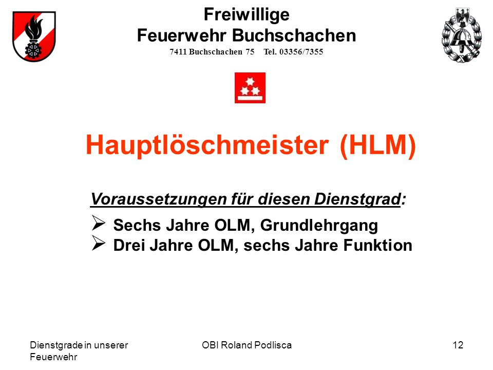 Hauptlöschmeister (HLM)