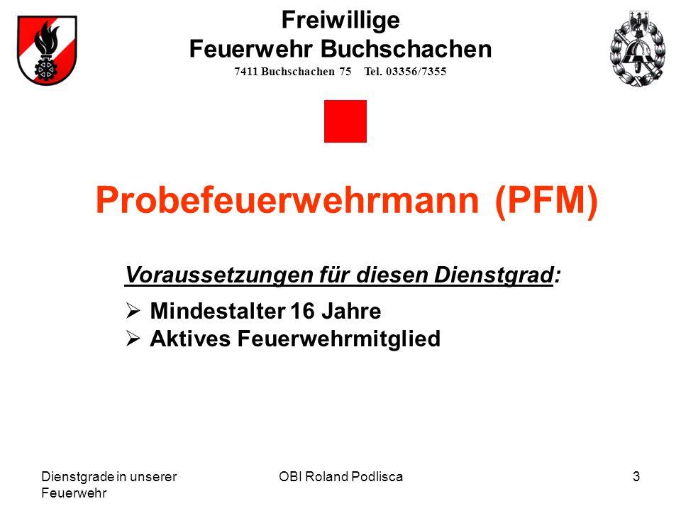 Probefeuerwehrmann (PFM)