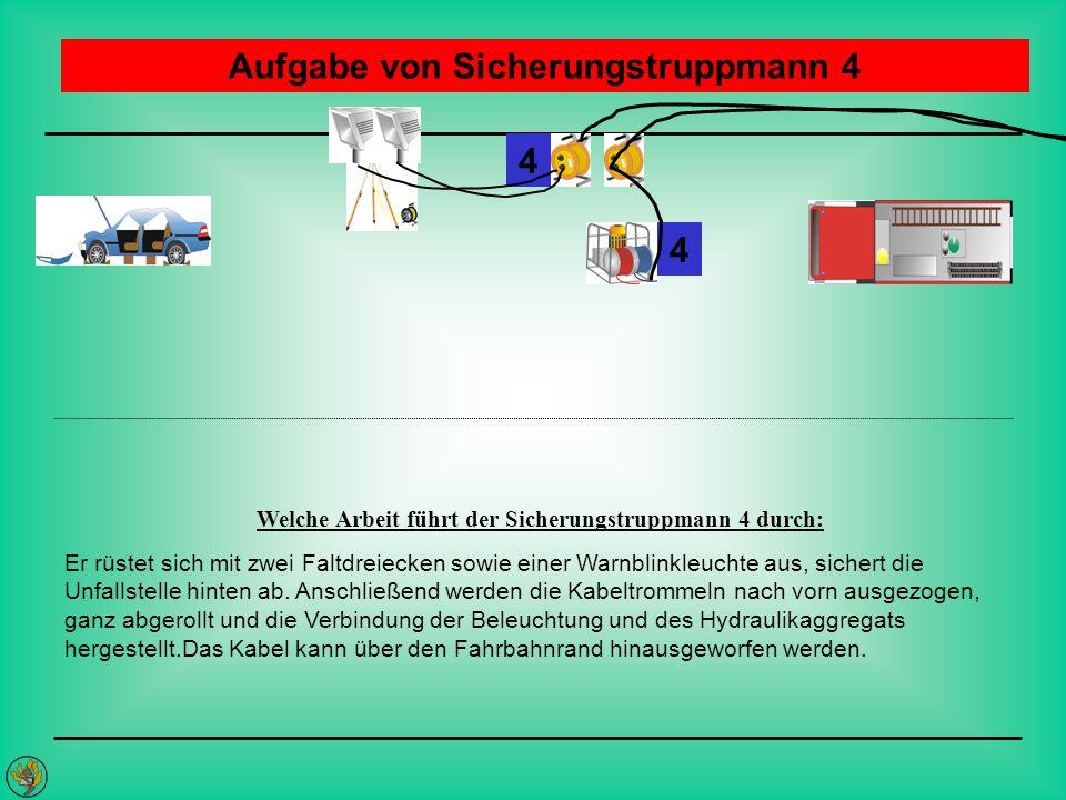 Aufgabe von Sicherungstruppmann 4