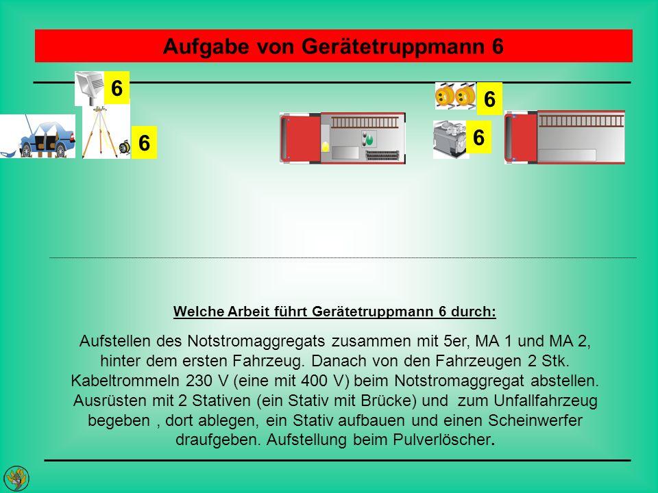 Aufgabe von Gerätetruppmann 6
