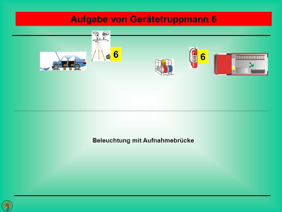 Aufgabe von Gerätetruppmann 6 Beleuchtung mit Aufnahmebrücke