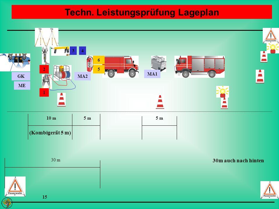 Techn. Leistungsprüfung Lageplan