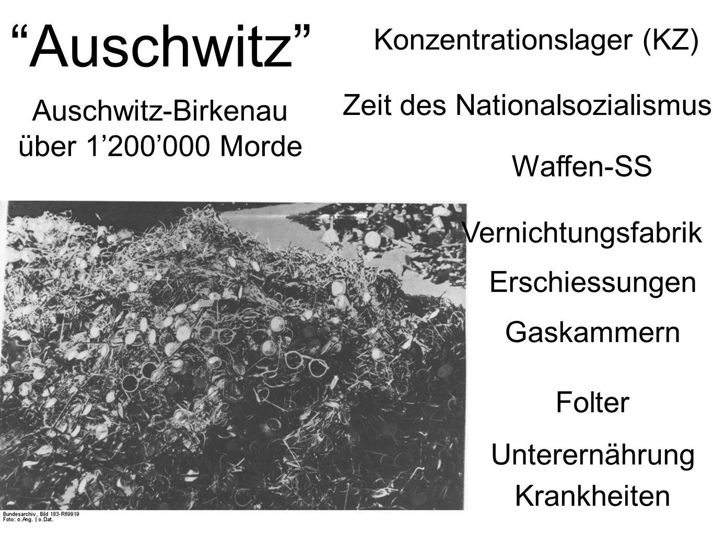 Auschwitz Konzentrationslager (KZ) Zeit des Nationalsozialismus