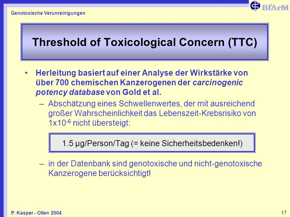 Threshold of Toxicological Concern (TTC)