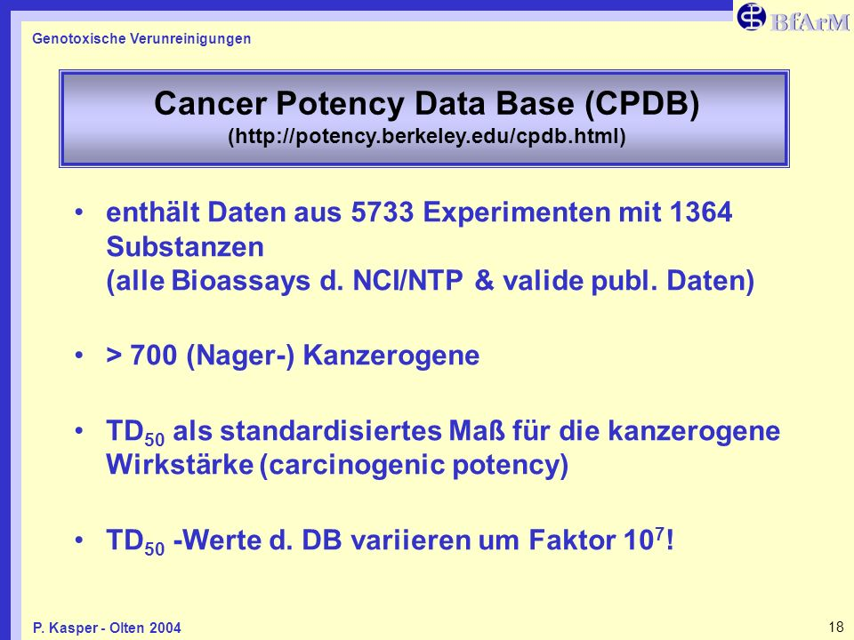 Cancer Potency Data Base (CPDB) (http://potency. berkeley. edu/cpdb
