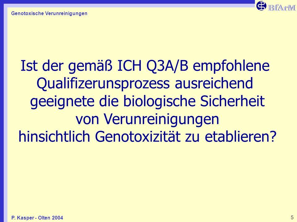 Ist der gemäß ICH Q3A/B empfohlene Qualifizerunsprozess ausreichend