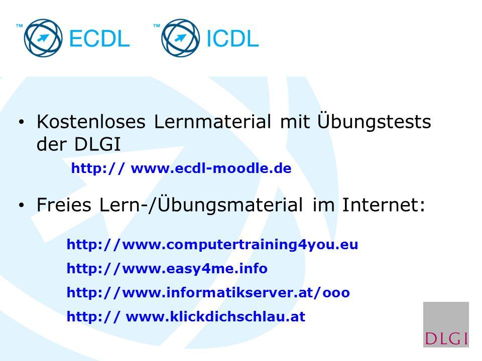 Freies Lern-/Übungsmaterial im Internet: