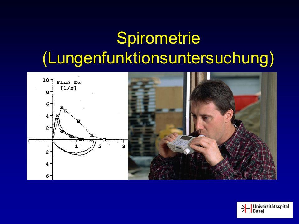 Spirometrie (Lungenfunktionsuntersuchung)