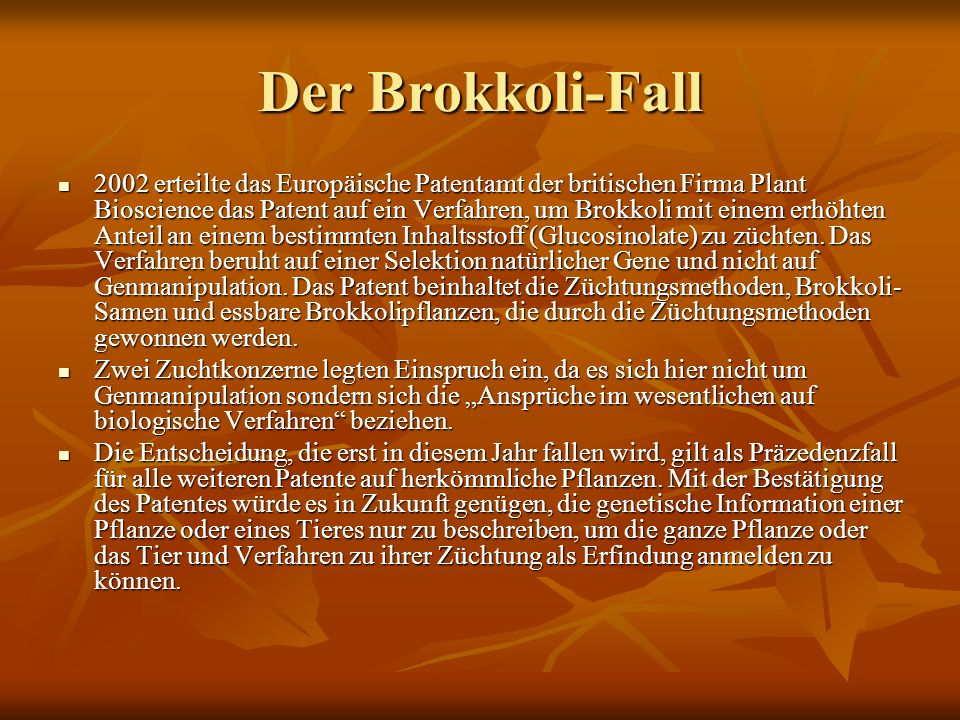 Der Brokkoli-Fall