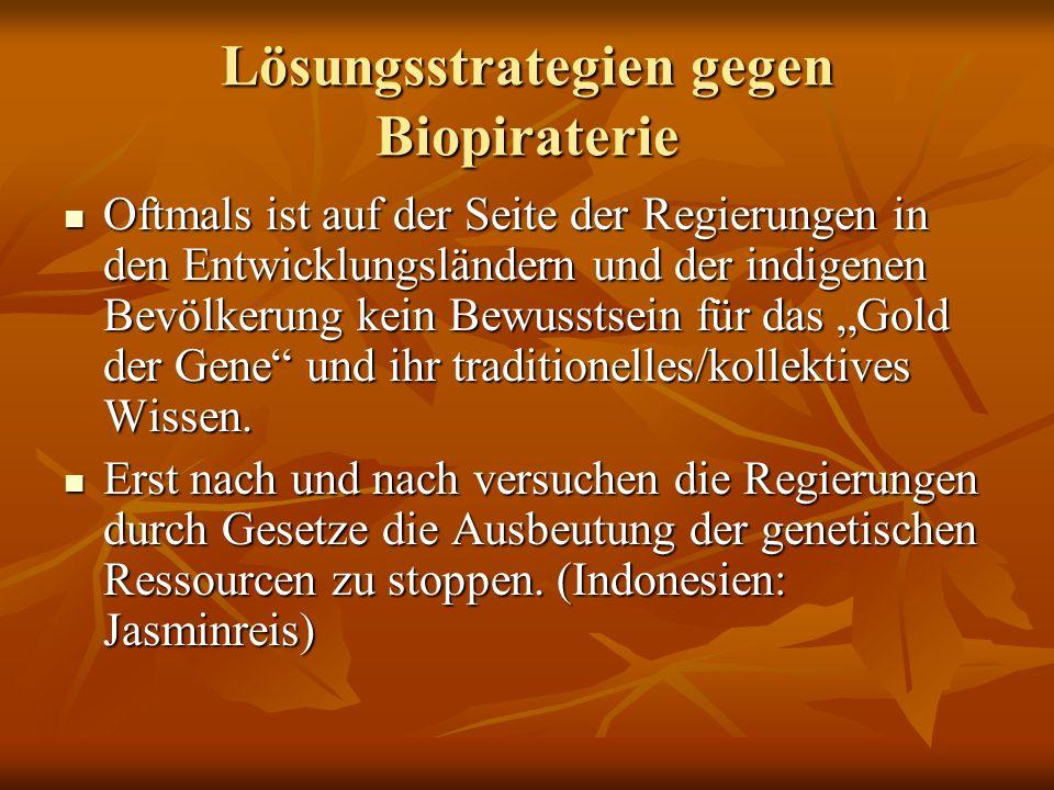 Lösungsstrategien gegen Biopiraterie
