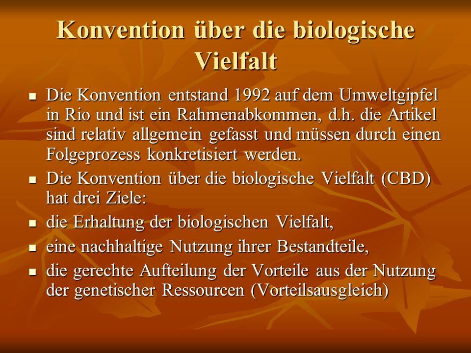 Konvention über die biologische Vielfalt