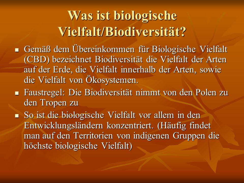 Was ist biologische Vielfalt/Biodiversität