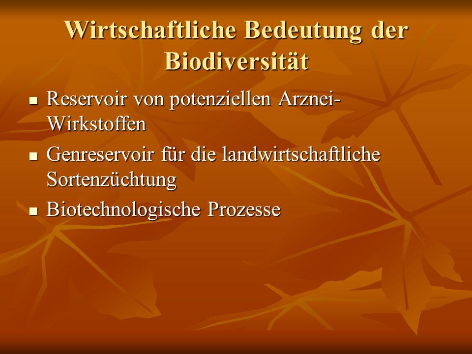 Wirtschaftliche Bedeutung der Biodiversität