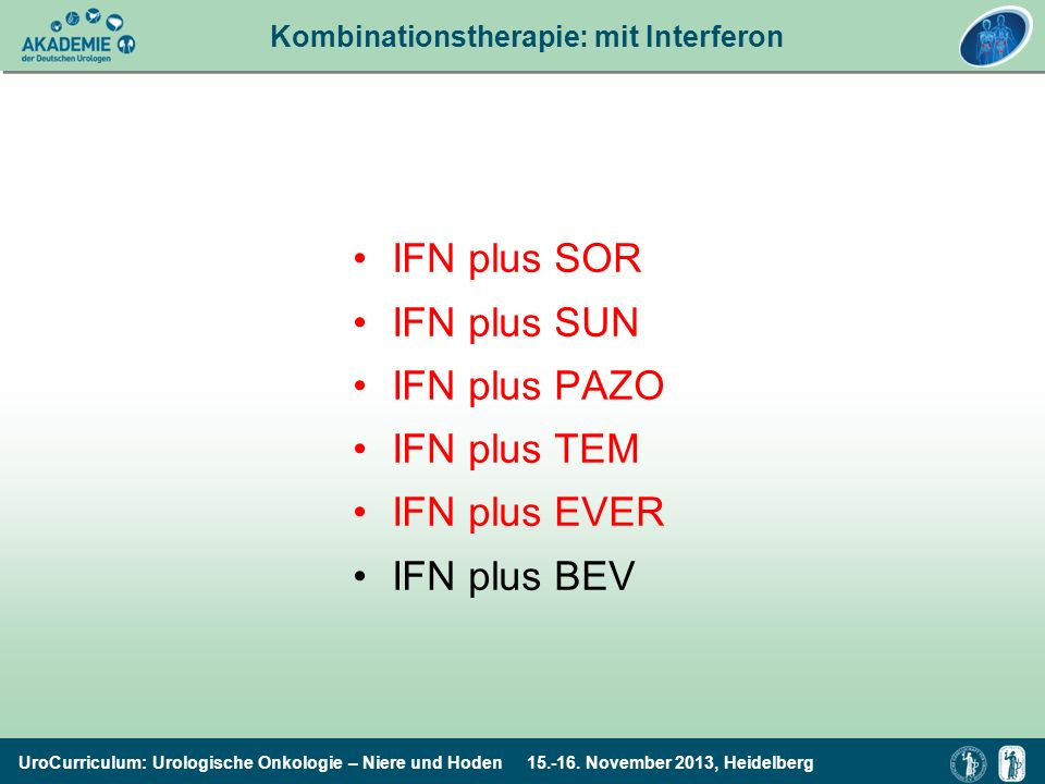 Kombinationstherapie: mit Interferon
