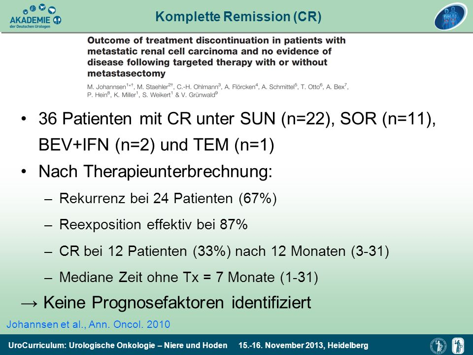 Komplette Remission (CR)