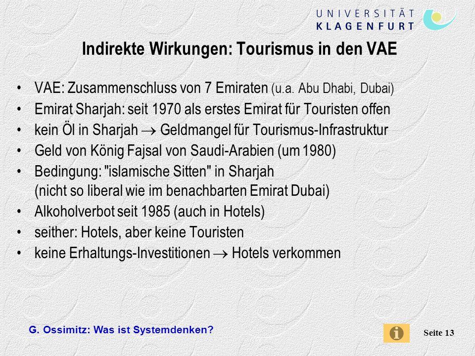 Indirekte Wirkungen: Tourismus in den VAE