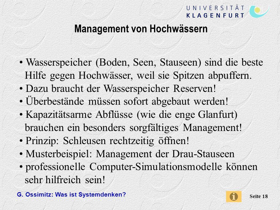 Management von Hochwässern