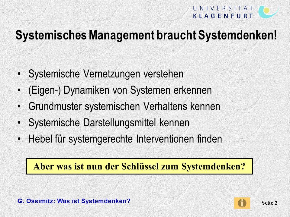 Systemisches Management braucht Systemdenken!