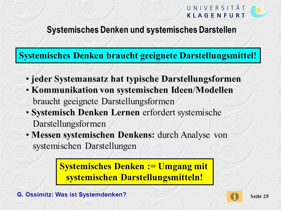 Systemisches Denken und systemisches Darstellen