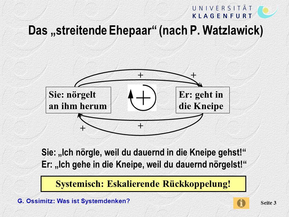 """Das """"streitende Ehepaar (nach P. Watzlawick)"""